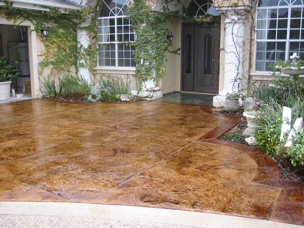 Stamped Concrete Sealing Re Sealing amp Color Restoration